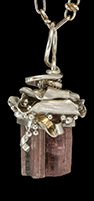 Tourmaline and Sterling Pendant